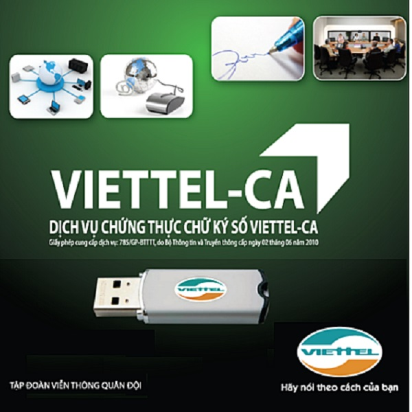 Khai thuế qua mạng với dịch vụ chứng thực VIETTEL CA