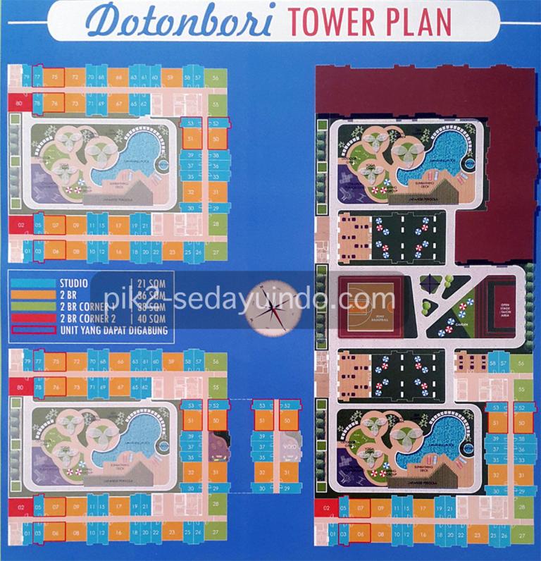 Dotonbori Tower Plan Apartemen PIK2