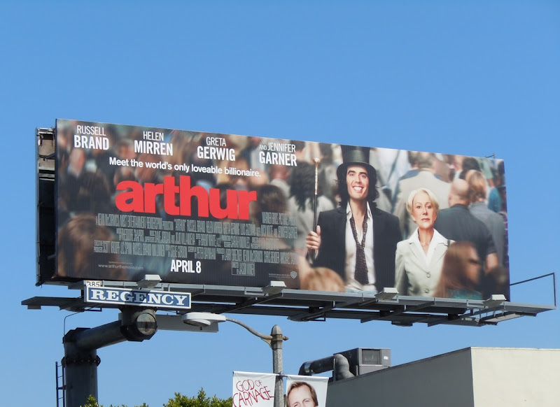 Arthur remake movie billboard