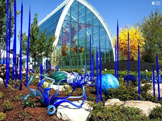 In the Glass Garden of  Dale Chihuly