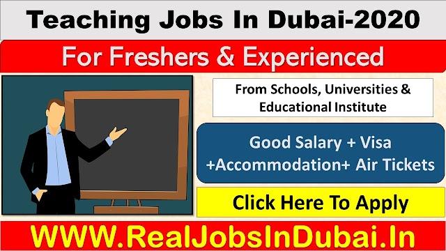 Teaching Jobs In Dubai - UAE 2020