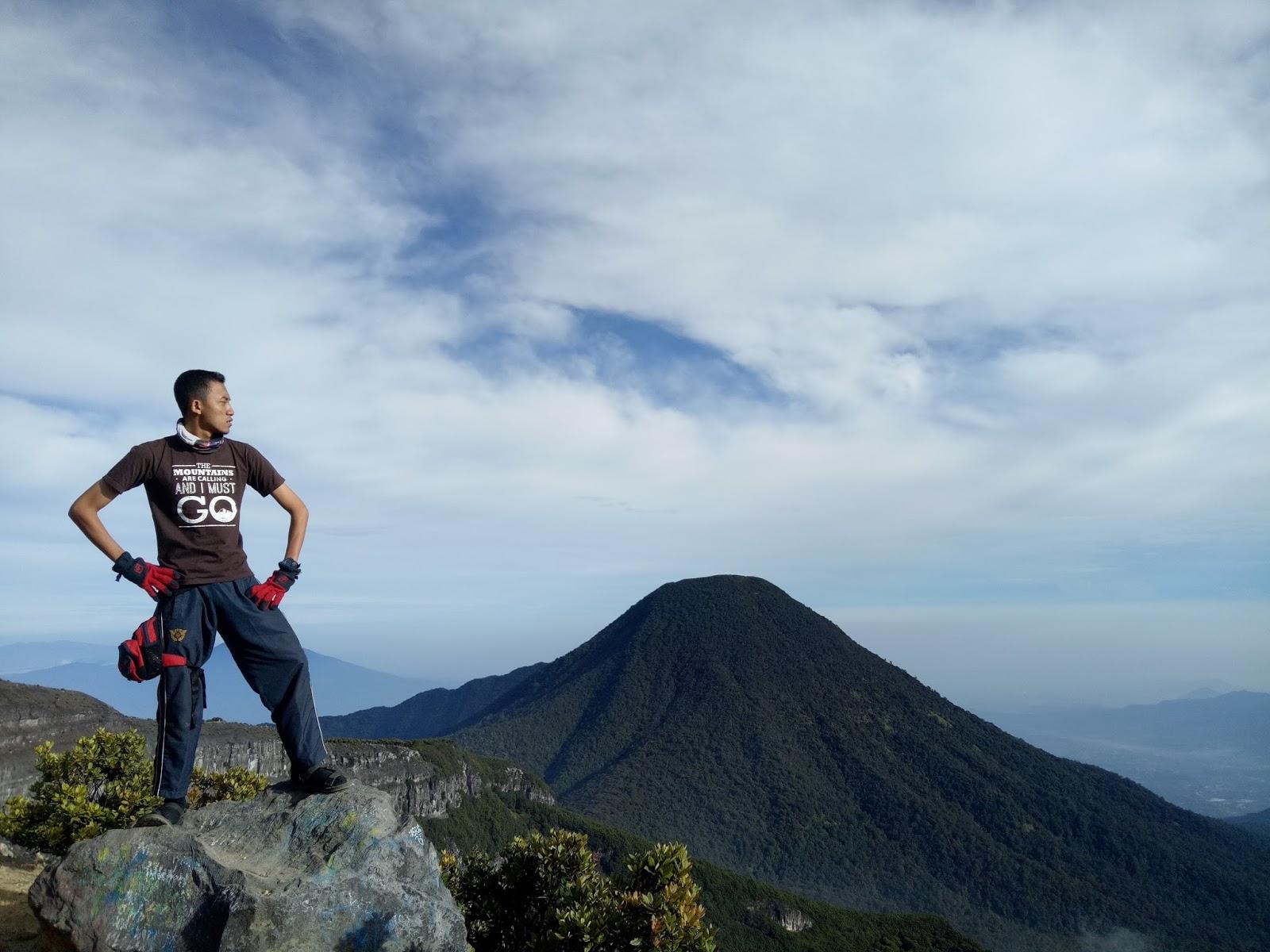 background gunung pangrango