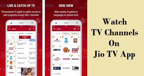 Jio Tv app for android