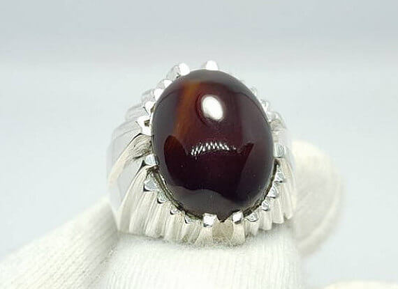 oval aqeeq ring