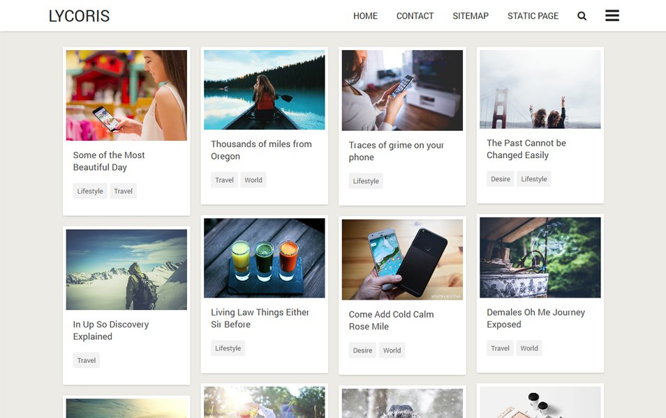 50+ Latest Free Grid Style Blogger Templates 2020