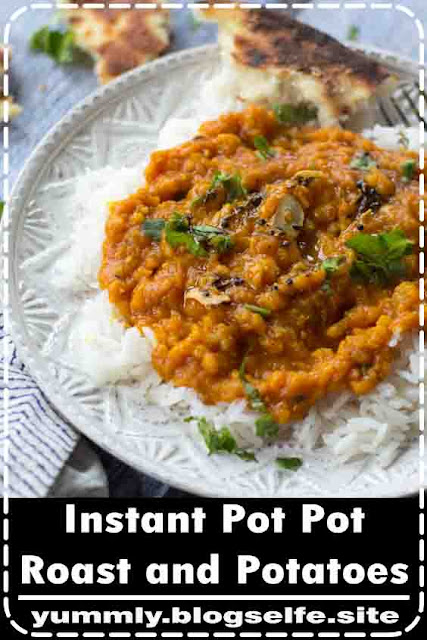 Packed with flavor and really simple to make, this instant pot Indian red lentils makes for the perfect vegetarian comfort food!