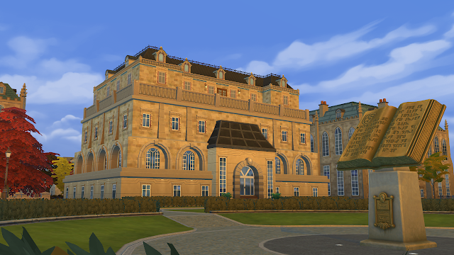 Sims 4 Wyvern Hall - Original