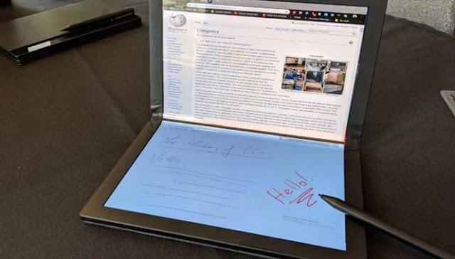"The Lenovo ""ThinkPad X1"" is a full-fledged folding screen ready"