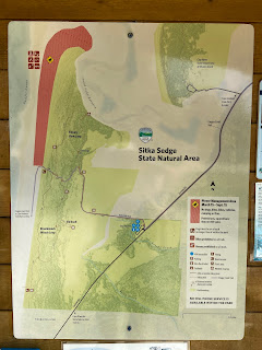 Map of Sitka Sedge Natural Area.