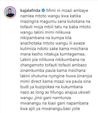 Frida Kajala letter to Government