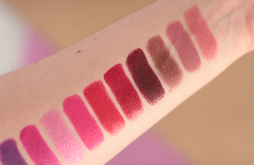 Urban Decay Vice Lipstick swatches shades