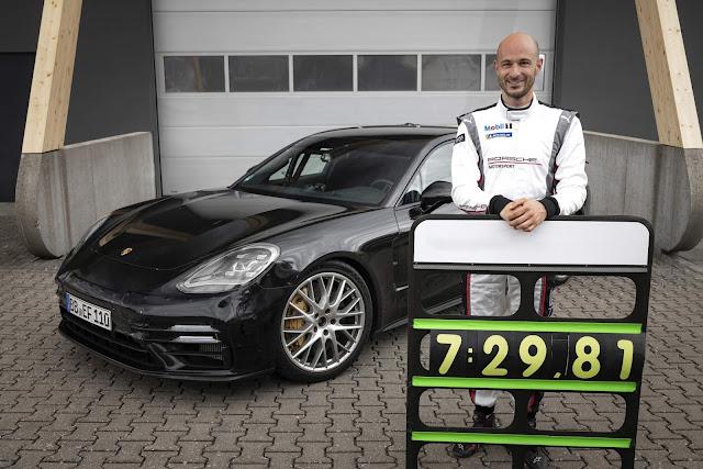 Novo Panamera supera o Mercedes GT 63S em Nürburgring