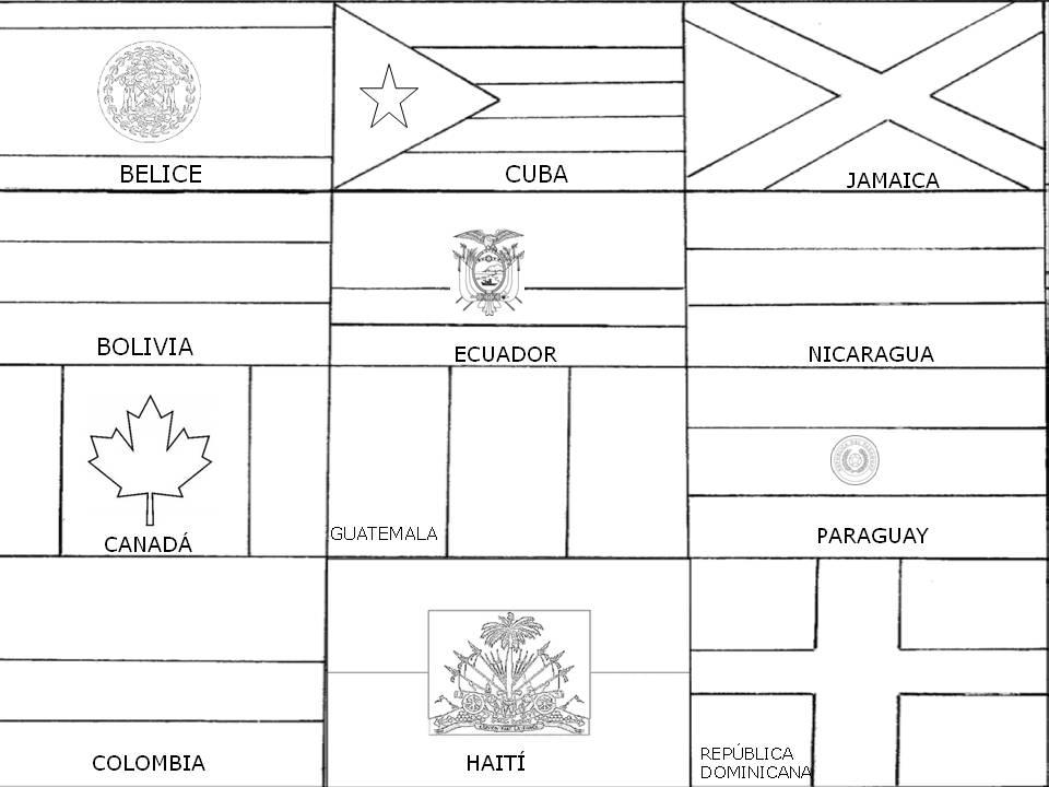 Atractivo Imprimir Gratis Banderas Del Mundo Para Colorear ...