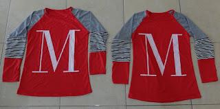 Jual Online LP Mike Red Grey Murah Jakarta Bahan Spandex Terbaru.
