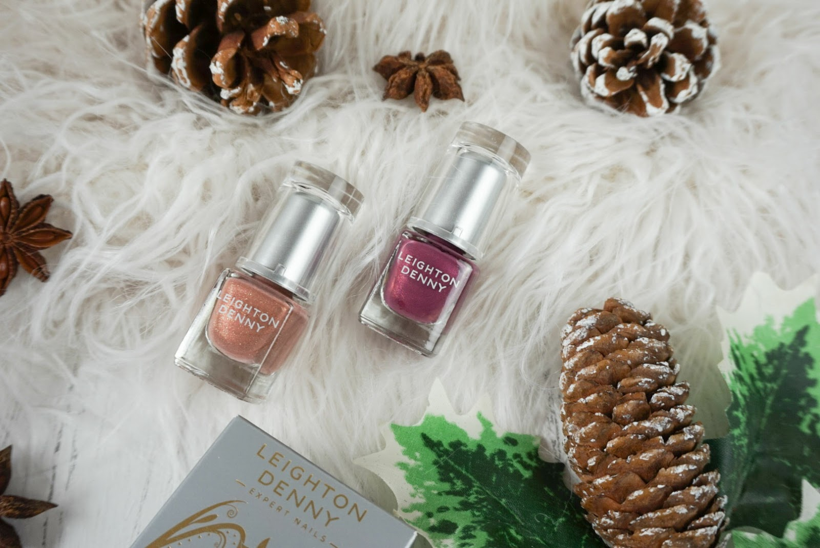 Chistmas| Beauty Stocking Fillers Under £25 Two Of A Kind: Real Treasure & Down Memory Lane by Leighton Denny Nail Polish