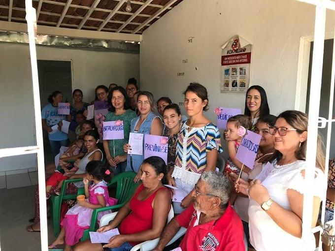 Prefeitura de Umbuzeiro leva ações do Mês da Mulher a comunidade de Picadas