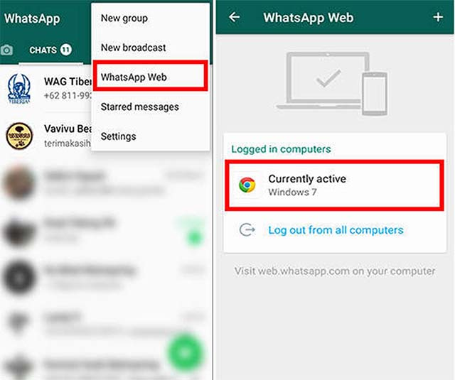 Cara Mengetahui WhatsApp di hack dan diretas