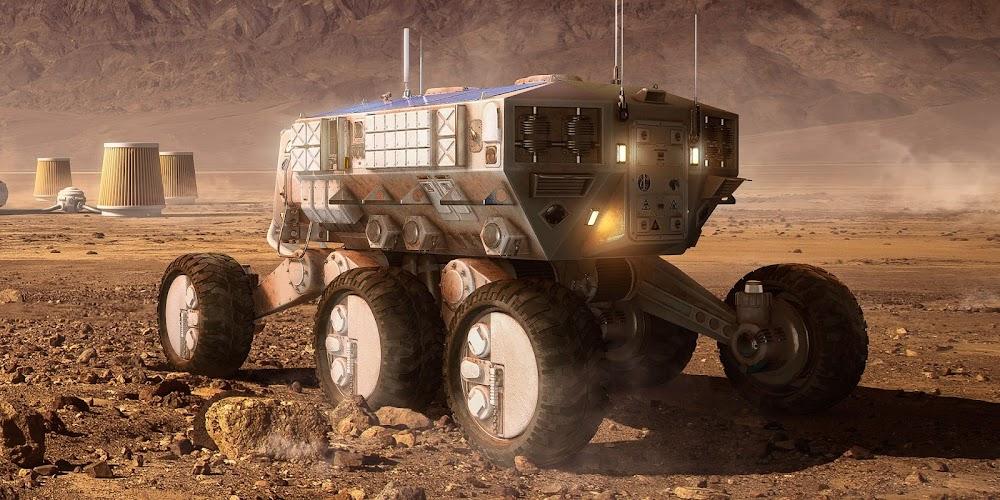 Mars base by Carles Marsal - rover