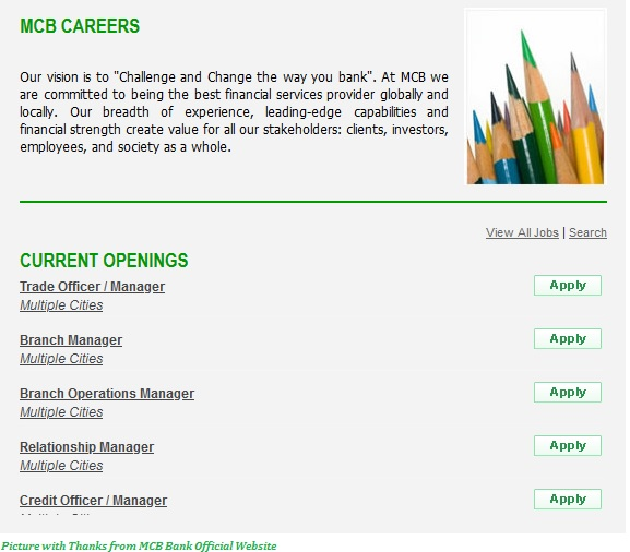 MCB Jobs 2020 - MCB Bank Jobs 2020 Apply Online from All Over Pakistan