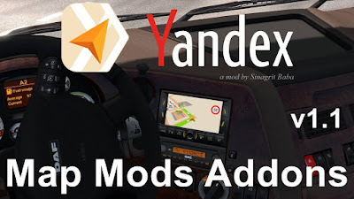 ETS 2 - Yandex Navigator Normal & Night Map Mods Addons v1.1