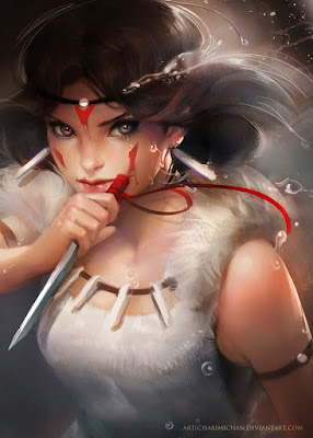 http://sakimichan.deviantart.com/art/Princess-Mononoke-Prints-for-sale-275280478