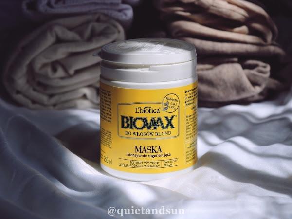 L'biotica, Biovax, Intensywnie regenerująca maseczka do włosów blond i rozjaśnianych