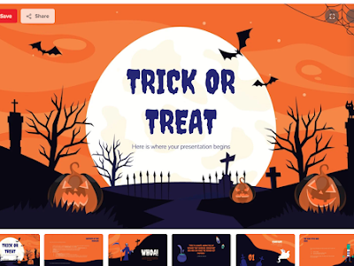 Free Halloween  Google Slides and PowerPoint Templates for Teachers