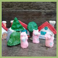 Muñecos títeres creados en papel maché. Títeres de dedo en papel maché