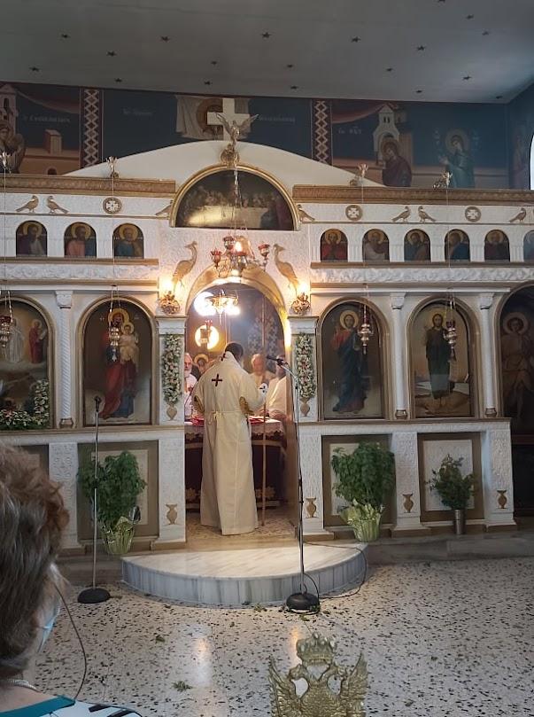 Ο Μητροπολίτης Φθιώτιδας κ, Συμεών εγκαινίασε χτες την εκκλησία της Μεταμόρφωσης Σωτήρος στην Παλαιοκερασιά