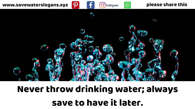 water conservation images | Save water slogans