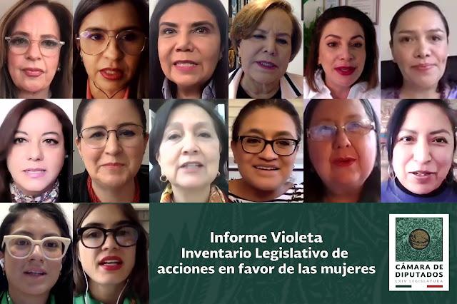 """Presentan el """"Informe Violeta, inventario de acciones legislativas en favor de las mujeres"""""""