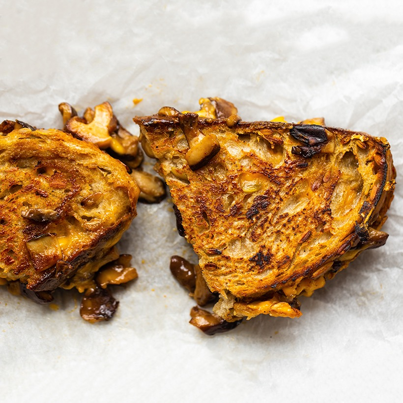 Shiitake Bacon Grilled Cheese