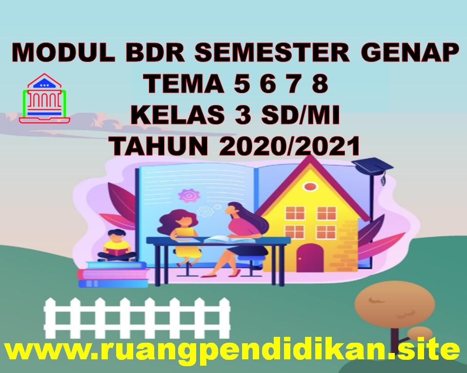 Modul BDR Tema 5 6 7 8 Kelas 3 SD/MI