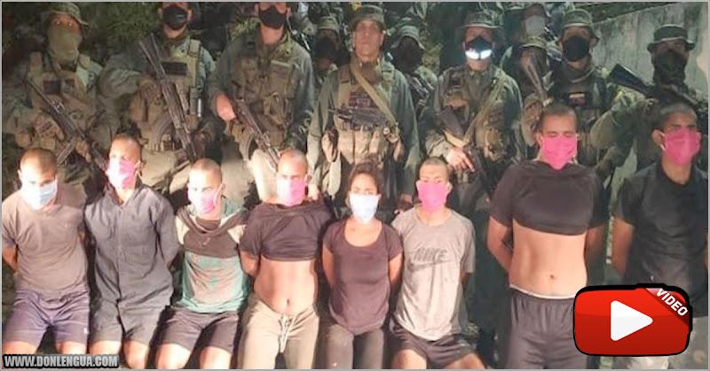 Ocho Mercenarios de cholas detenidos en Carayaca por el Régimen
