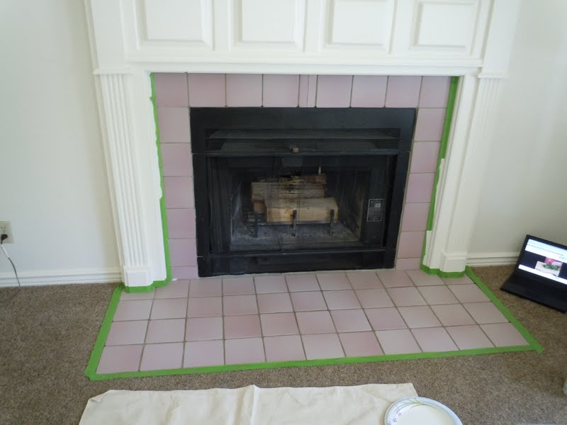 chloe colette: charming house: painting fireplace tile