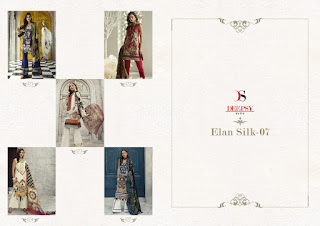 Deepsy Elan Silk vol 7 pakistani Suits wholesaler