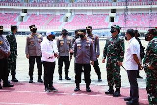 Ditinjau Panglima TNI, Kapolri dan Menpora Kesiapan Stadion dan Arena Akuatik Pon ke-XX di Papua Saat Ini Sudah Bagus