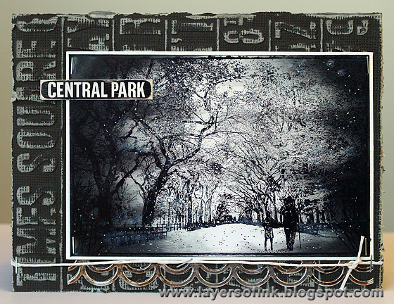 Evening in Central Park - Layers of ink
