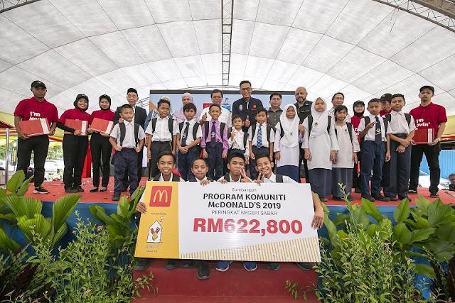 LEBIH RM600,000 DISUMBANGKAN UNTUK RAKYAT SABAH - MCDONALD'S