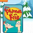 Combate en la nieve con Phineas y Ferb