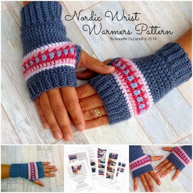 My Rose Valley: The Nordic Wrist Warmers Pattern