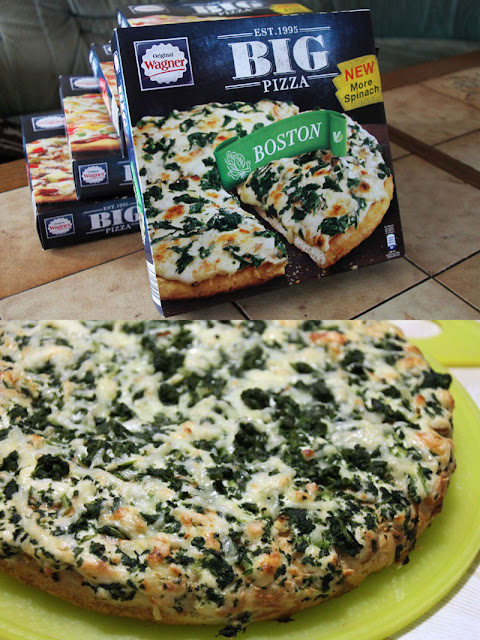 Original Wagner Big Pizza Boston - Verpackung & aufgebacken