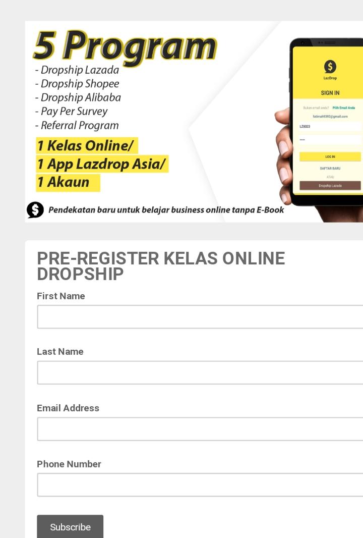 Daftar Join Kelas Online Dropship Lazada , Shopee,Alibaba ...