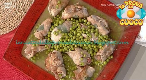 Uccellini scappati con piselli ricetta Spisni da Prova del Cuoco