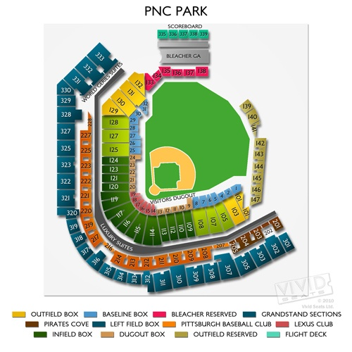 Elegant Pnc Park Seating Chart With Seat Numbers Seating Chart
