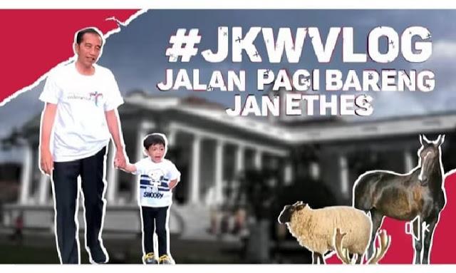 Jokowi Ngevlog saat kabut asap
