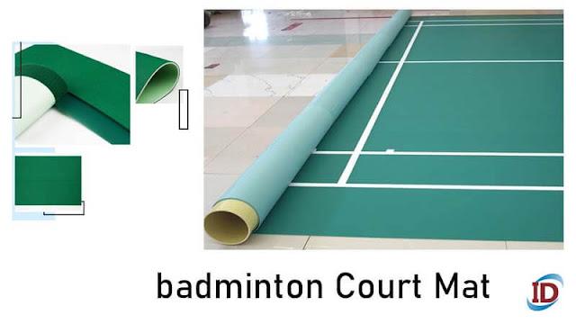 mat court lapangan badminton lantai