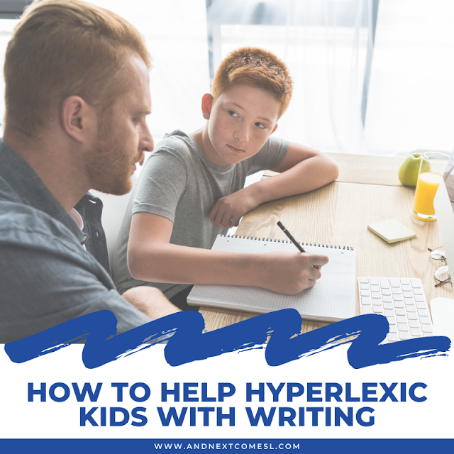 How to help hyperlexic kids with writing