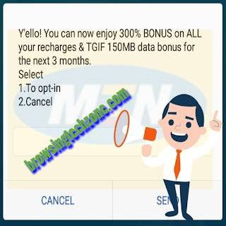 MTN 300% + 150MB On Every Recharge