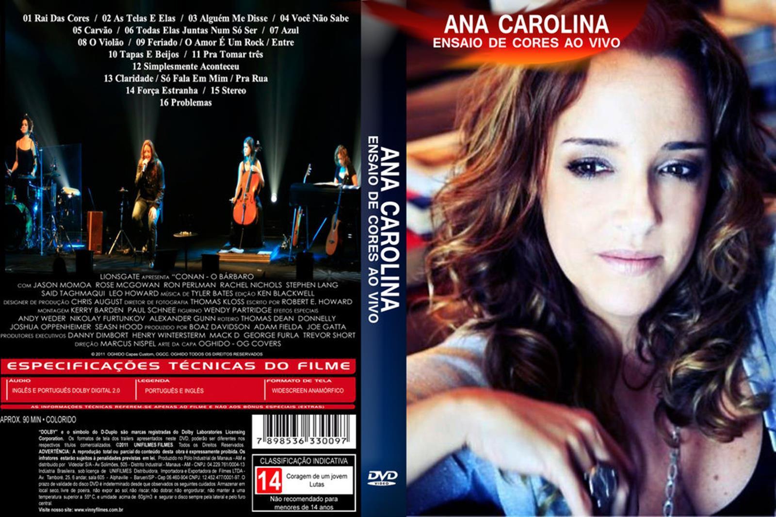 capa dvd ana carolina ensaio de cores
